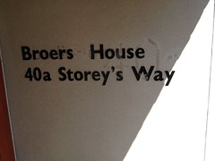 Broers House (staircase 63; Storey's Way 40A)