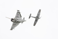 Synchro Pair (martipa) Tags: nikon airshow eurofighter spitfire abingdon typhoon synchro supermarine d810 afs300mmf4 fgr4