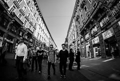People (Brigante..) Tags: blackandwhite fuji milano streetphotography fisheye fujifilm xt1 samyang8mm