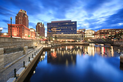Waterplace Park (Jemlnlx) Tags: park plaza ri 3 reflection water pool night canon river island eos evening bay is dock place zoom mark iii wide providence filter l 5d usm filters 06 rhode ef f4 graduated density hoya neutral tiffen 1635mm gnd d400 woonasquatucket ndx400