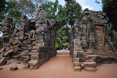 Was Once A Gateway (kaleydoscopic) Tags: old history abandoned stone architecture rural buildings religious temple ancient nikon ruins cambodia khmer decay angkorwat fallen empire rubble d3300