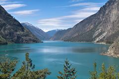 Seton Lake - Lillooet, British Columbia, Canada (DavidR.808) Tags: railroad mountain lake snow canada landscape pacific britishcolumbia great railway columbia canadian reservoir national british fjord eastern range lillooet seton freshwater mclain cayoosh