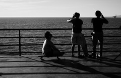 Untitled (ajkpix) Tags: california street sea people blackandwhite bw beach candid huntingtonbeach hb scattidistrada