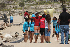 IMG_8758 (Streamer -  ) Tags: ocean sea people green beach nature students ecology up israel movement garbage sunday north group young cleanup clean teen shore bags  nonprofit streamer  initiative enviornment    ashkelon          ashqelon   volonteers      hofit