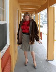 new109119-IMG_0596t (Misscherieamor) Tags: tv feminine cd motel furcoat tgirl transgender mature sissy tranny transvestite crossdress ts gurl tg travestis travesti travestie m2f pleatskirt xdresser tgurl satinblouse