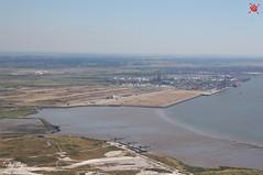 Mucking Tip & London Gateway Port (Essex Explorer) Tags: aerial riverthames essex thurrock stanfordlehope img3464 muckingtip londongatewayport