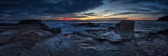 Palm Beach Sunrise (RoosterMan64) Tags: panorama seascape sunrise canon sydney panoramic palmbeach 1740l northernbeaches rockshelf