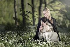 _U7A2221_1 (Robert Björkén (Hobbyfotograf)) Tags: light woman white flower green girl forest dress outdoor medieval