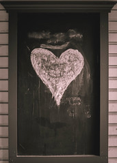 Chalkboard Love (Greyson Rose) Tags: street blackandwhite black art love chalk heart