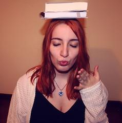Ella (Inspiracin dormida) Tags: girl redhair orange hair book pelirroja pelinaranja libro flores black