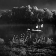 sailing home (old&timer) Tags: background infrared blackandwhite composite fantasy surreal model deviantart senzostock song4u oldtimer imagery laszlolocsei digitalart