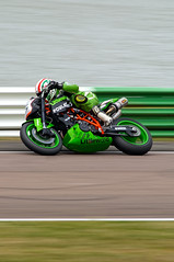Reasons To Be Cheerful. 1, 2, 3 (Neil B's) Tags: 2008mallorypark racing speed panning bikes green sport