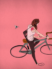 Mesmerism (I Like You Graphik) Tags: christopherberry ilikeyougraphik 2016 illustration copic tattoo bicycle hummingbird