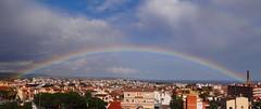 Rainbow (luciafernndezdelassaletta) Tags: sky panorama nature skyline arcoiris rainbow spain village cielo panoramica nube torredembarra
