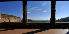 Tuscan panorama from rear balcony of Palazzo Pubblico, Siena, Italy .. (edk7) Tags: city roof sky urban italy panorama cloud building brick architecture tile landscape italia cityscape balcony tuscany siena toscana 2008 roofline citycentre palazzopubblico oldstructure nikond60 edk7 sigma1224mm14556dghsmex
