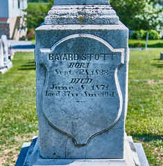 Bayard Stott, 1871 (The Fotogrphr) Tags: life old usa white texture church monument nature cemetery grave graveyard sign stone mystery night america dark dead outdoors death sadness grey site bury ancient memorial ruins die catholic peace cross symbol buried stones antique empty grunge headstone faith cemetary religion tomb tombstone dramatic chapel graves historic christian funeral final memory gravestone granite burial marker restingplace rest churchyard spirituality tombstones gravestones isolated grief celticcross mourn funerary morgue departed oldruin