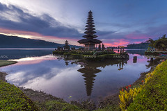 Blessing Sunrise (Pandu Adnyana Photography Tour) Tags: sunrise bratan lake beratan bedugul temple hindu bali indonesia baliphotographytour baliphotographyguide balitravelphotography balilandscapephotography travel guide tour