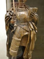 ca. 1515-1525 - 'warrior saint' (circle of the Master of Elsloo), Upper Guelders, Muse du Louvre, Paris, France (roelipilami) Tags: 1515 1520 1525 warrior saint st ridder heilige guerrier soldatenheiliger san sankt sculpture renaissance gothic master elsloo maitre meester van de limbourg limburg upper guelders opper gelre gueldre obergeldern alta gheldria musee museum louvre du parigi paris parijs armor armure armadura armatura maximilian harnas sword epee hat hoed chapeau circle omgeving atelier tassets