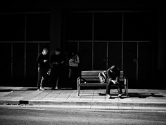 Everyday #Adelaide No. 328 (Autumn/Winter) (michelle-robinson.com) Tags: southaustralia people community capturinglife documentary bw australia everyday editedonipadair everydayadelaide life everydayaustralia instagram dailylife cityliving blackandwhite streetphotography blackandwhitephotography streetphotographer flickrelite 4tografie adelaide snapseed lifestyle citylife michellerobinson streetlife urban monochrome michmutters streetphoto scene street busstop xt10 society shadows fujifilm xseries youth lightandshadows waiting