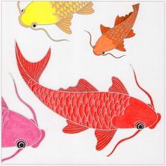Swimming Carp (beautifulcataya) Tags: coloring coloringbooks adultcoloring