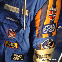 Production jacket at Star Wars Celebration Europe (It's Nonsinthetik) Tags: starwars jacket patches starwarscelebration excelcentre theforceisstrong swce nonsinthetik