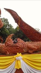 Ubon Ratchathani - Thailand (jcbkk1956) Tags: temple decoration naga ribbon wall boat statue ubonratchathani thailand samsung buddhism buddhist garland prow worldtrekker wb100