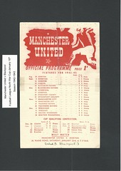 Manchester United v Blackpool Football League North War Cup Season 1942-1943 (Leslie Millman-Manchesterunitedman1) Tags: blackpool
