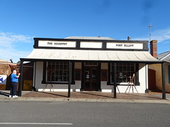 Port Elliot. An antique shop which was an  old general store with 24 paned windows which would date it to the 1850 or 1860s. The Registry. (denisbin) Tags: southcoast portelliot cemetery catholic steamranger train diesel dieseltrain store theregistry carriage sar traincarriage