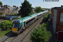 22030 passes Claude Road, 19/7/16 (hurricanemk1c) Tags: dublin irish train rail railway trains railways irishrail rok rotem drumcondra 2016 22030 icr iarnrd 22000 ireann iarnrdireann clauderoad 4pce 0900sligoconnolly