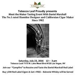 Meet #DanielMarshall at the #TobaccoLeaf in #LasVegas today from noon to 3. #cigaroftheday #dmworld #dmcigarworld #DMcampfire #GoldenCigar #cigarsnob #cigarsmoker #cigarlifestyle #cigars #smokingcigars (thecigarphotographer) Tags: ifttt instagram cigars