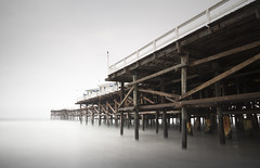 san diego / pacific beach / crystal pier (William Dunigan) Tags: san diego pacific beach mission crystal pier ocean color seascape southern california long exposure motion blur water waves cloudy marine layer mist fog