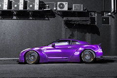 Liberty Walk Nissan GTR R35 | ReinArt Design HK | Wrap Workz HK (- Icy J -) Tags: midnight purple nissan gtr r35 liberty walk widebody kit fenders wrapped
