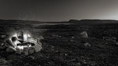 nightlife (SeALighT!) Tags: landschaft landscape suomi finland finnland lapland lappland kilpisjrvi night blackandwhite bw midnightsun hike campfire mountains saana lake fire
