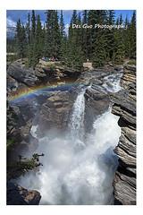 Athabasca Falls, Jasper National Park (PhotoDG) Tags: athabascafalls jaspernationalpark jasper nationalpark icefieldsparkway banff canadianrockies rockymountains glacier waterfall rainbow wideangle
