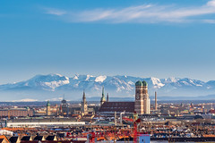 Mnchen Panorma (drakonenterprises) Tags: mnchen panorama berge alpen alps mountains munich city town olympischespiele olympia2022 winterspiele germany