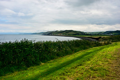 Round Wales Walk 40 - Hills to Come! (Nikki & Tom) Tags: walescoastpath wales ceredigion uk llanrhystud field bay coast path track sea