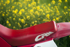 L1008440c (haru__q) Tags: leica m8 leitz summicron honda crm250r field mustard 2st motorcycle