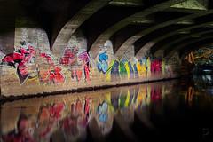 Under the bridge (vandrende) Tags: akerselva grafitti nor oslo ringnespark vyenbrua bridge bro graffiti norge norvege norway pont streetart urban