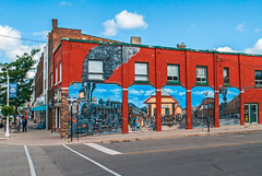 Train Mural (fotofrysk) Tags: mural bia businessimprovementassociation kingstreet mainstreet businesses sidewalk sundaydrive roadtrip discoveringontario canada ontario midland nikond200 sigma1750mm28 dsc0054