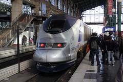 20080209 003 Paris Nord. 373227 TGV 7040, 11.00 ex Lille Flandres (15038) Tags: railways trains sncf france br britishrail electric emu class373 eurostar 373227 parisnord