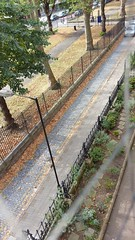 Stepney Green Leaf fall Sept 2016 (Carol B London) Tags: stepney stepneygreen e1 londone1 leaffall fall autumn sweep