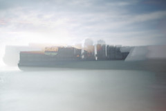 Ubiquitous_xxi (Jonny Bell) Tags: jonnybell icm multipleexposures blur movement painterly sea shipping suffolk felixstowe