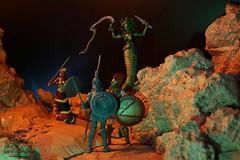 "20160928 - ""Time to DIE, Spartan!"" (will5967) Tags: actionfigures actionfigureuniverse will5967 wwwactionfigureuniversecom willhoover willsactionfigureuniverse vitruvianhacks334 action figuresseries 1 spartan warrior cursed medusa cobra gorgon"