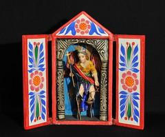 Saint Michael Archangel Nicho Peru (Teyacapan) Tags: nichos peru saints santos andean southamerican crafts sanmiguel angels saintmichael