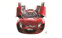 C-Metisse (velt.mathieu) Tags: auto car watercolor aquarelle citroen cmetisse