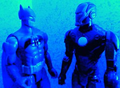 Gadget Obsessed Billionaires (atjoe1972) Tags: ego comics movie toys actionfigure 1 dc tv ironman superhero batman series billionaire marvel titan gadgets mattel darkknight avengers 12inch hasbro obsessed shellhead atjoe1972