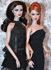 Erin and Erin (Nadine Gomes) Tags: jason face fashion club toys high doll noir nu erin w collection event chrome giveaway and gloss envy wu royalty 2012 xi integrity the 2014 salston stalton
