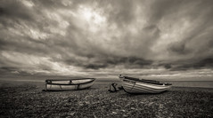 Rebecca Louise (grbush) Tags: sea sky bw seascape beach monochrome landscape boats coast blackwhite norfolk blakeney blakeneypoint grantbush tokinaatx116prodxaf1116mmf28 sonyslta77