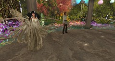 Avilion - Fae Flower Spring party (Osiris LeShelle) Tags: life flowers party music flower dance spring heart medieval fantasy secondlife second fae roleplay avilion