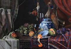 Stilleben mit der Orange (tania_rivilis) Tags: painting kunst stilleben stillife oilpainting malerei gemlde realismus klassische lmalerei akademismus taniarivilis